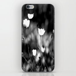 White Poppy Flowers in Black and White #decor #society6 iPhone Skin