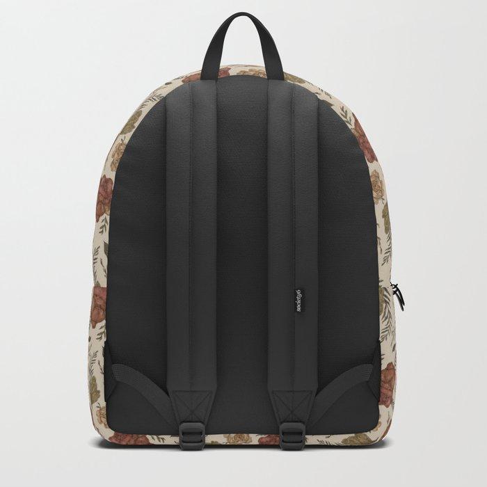 Antique Floral Pattern Backpack