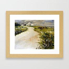 windswept coast Framed Art Print