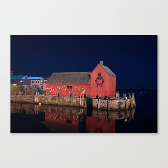 Motif #1 with Christmas Wreath Canvas Print