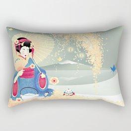 Turning Japanese Rectangular Pillow