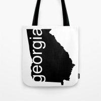 georgia Tote Bags featuring Georgia by Isabel Moreno-Garcia