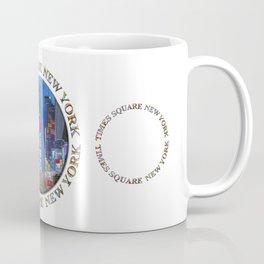 Times Square Broadway NYC (triple emblem on white) Coffee Mug