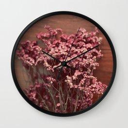 Vintage Purple Flowers Wall Clock