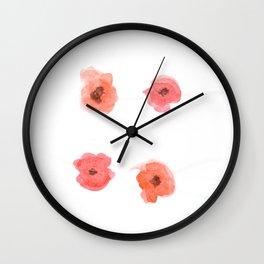 Poppy Pattern 1 Wall Clock