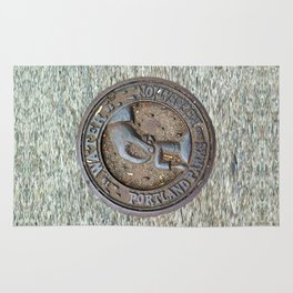 Portland Water Utility cover Rug