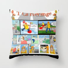 TCs Comic Page Throw Pillow