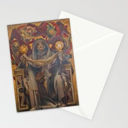 Classical Masterpiece Church Mural by John Singer Sargent Stationery Cards