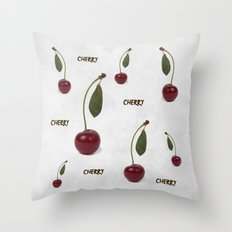 Red cherry berry: The Graduate Throw Pillow