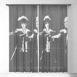 Spike Jet Knock Out - Cowboy Bebop Sheer Curtain