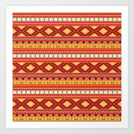 Tribal #5 * Ethno Ethnic Aztec Navajo Pattern Boho Chic Art Print