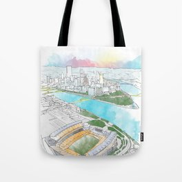 Heinz Field Pittsburgh Aerial Tote Bag