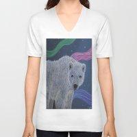 polar bear V-neck T-shirts featuring Polar Bear by Renee Trudell