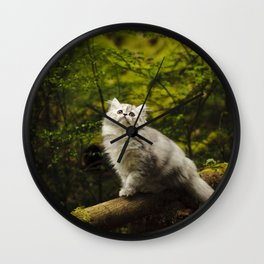 Olivia in the Woods Wall Clock