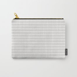 Horizontal Lines (White/Platinum) Carry-All Pouch