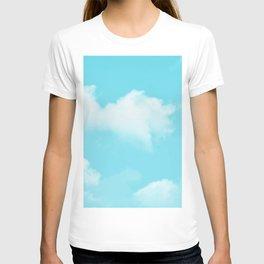 Aqua Blue Clouds T-shirt