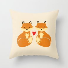 Love foxes Throw Pillow
