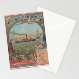 Ship Owners and Merchant Tug Boat Company,after 1882 Stationery Cards