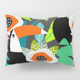 Tropical vibe with toucans Pillow Sham