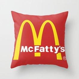 McFatty's Throw Pillow