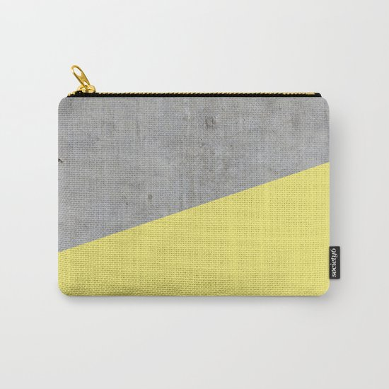 Concrete and yellow Carry-All Pouch