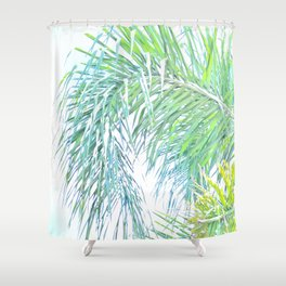 Palm in Sunlight Shower Curtain