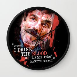 THERE WILL BE BLOOD (Daniel Plainview) Wall Clock