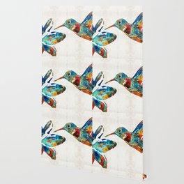 Colorful Hummingbird Art by Sharon Cummings Wallpaper