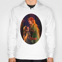 kili Hoodies featuring Tauriel and Kili 3 by Hattie Hedgehog