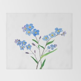 forget me not Throw Blanket