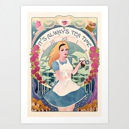 Alice Nouveau Art Print