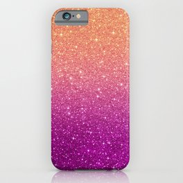 Ombre glitter #10 iPhone Case
