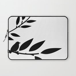 Bird and Branches Silhouette Laptop Sleeve