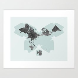 Butterfly Map of the World Art Print