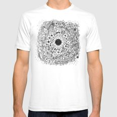 Flower circle Mens Fitted Tee White SMALL