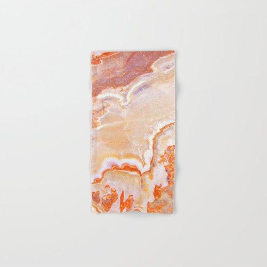 Peach Onyx Marble Hand & Bath Towel