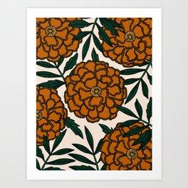 Orange Marigolds Art Print
