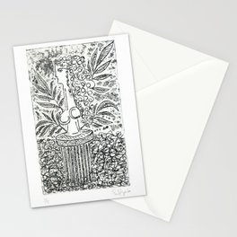 Sculpture in Garden Stationery Cards