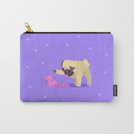 Playing With a Toy Pug Carry-All Pouch