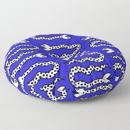 Pop Art Snakes Collage Floor Pillow