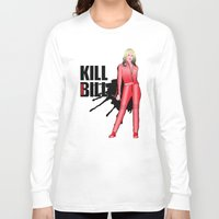 kill bill Long Sleeve T-shirts featuring Kill Vampire Bill (Red Version) by AriesNamarie
