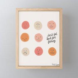 Feelings Framed Mini Art Print