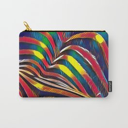 2602s-AK Nude Body Back Striped Abstraction Bright Color Pastel by Chris Maher Carry-All Pouch