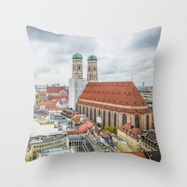 The Cathedral of Munich Throw Pillow