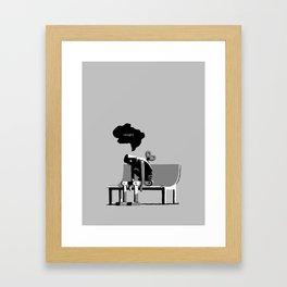 Robot Blues Framed Art Print