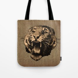 Vintage Tiger Tote Bag