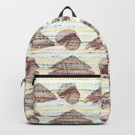 Vintage Seashells Pattern Backpack