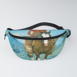 The Outlier by Frederic Sackrider Remington Fanny Pack