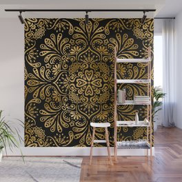 Sophisticated Black and Gold Art Deco Pattern Wall Mural