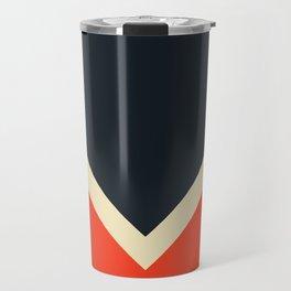 Black White And Red Colorful Retro Style Stripes Bast Travel Mug